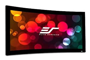 Elite Screens Lunette Series, 92-inch 16:9, Curved Fixed Frame Projection Screen, Model: Curve92WH1