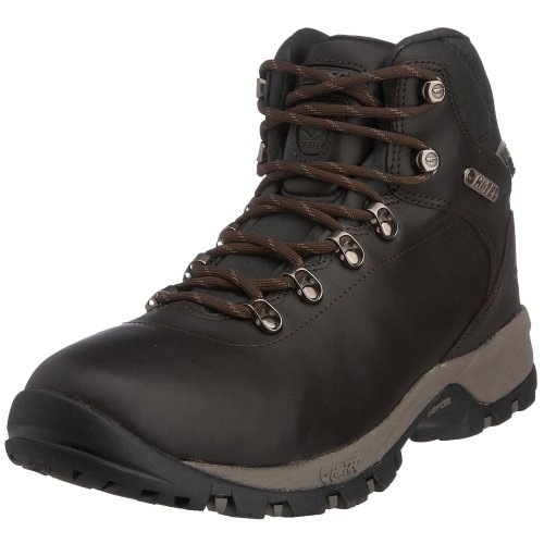 Hi-Tec Men's Vlite Altitude Ultra Luxe Waterproof WPi Hiking Boot Chocolate - Full Grain Leather O000843-041 10.5 UK