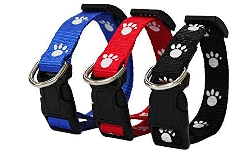 4in1 Flohhalsband für Hund & Katze 22 - 38 cm gegen Ungeziefer wie Zecken, Flöhe, Stechmücken, Larven & Eier *hält bis zu 4 Monate* 3 FARBEN (ROT)