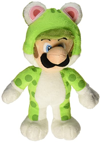 Little Buddy Super Mario Neko Cat Luigi Plush, 10""