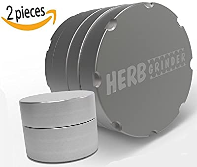 Herb Grinder Original #1 Best Spice Mill for Herbs, Tobacco and Seasonings - Large 2.5 inch 4-Piece Aerospace Aluminum