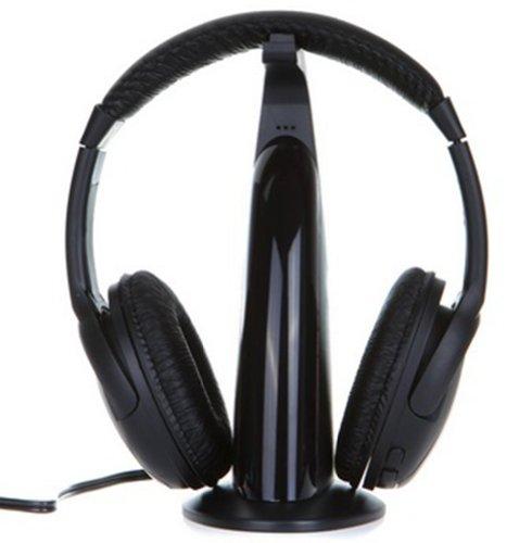 Chariot Trading - Multifunction 5 In 1 Hifi Wireless Headphone Earphone Headset Wireless Monitor Fm Radio Mp3 Pc Tv Audio Phones