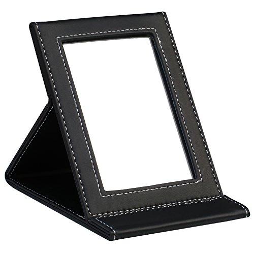 TRIXES-klappbarer-Spiegel-aus-Kunstleder-schwarz
