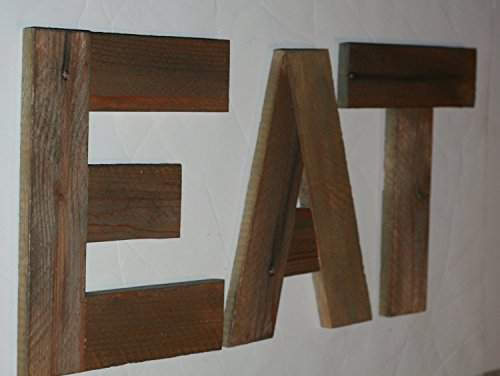 Reclaimed Wood EAT Letters, EAT Sign, Wooden EAT Letters. Many Colors Available. (Eat Letters For Kitchen compare prices)