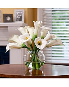 Amazon.com: Calla Lily Silk Centerpiece - White: Home & Kitchen