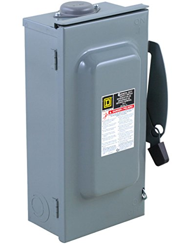Square D by Schneider Electric DU323RB 100-Amp 240-Volt 3-Pole Non-Fusible Outdoor General Duty Safety Switch, ,