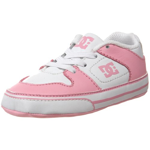 Dc Kids Pure Softy Crib Shoe (Infant/Toddler),White/Pink,3 M Us Infant front-35279
