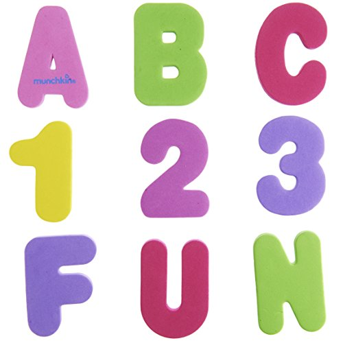 Munchkin 36 Bath Letters And Numbers, Pastel front-890863