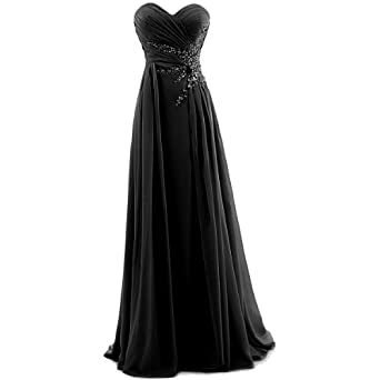 Amazon.com: Dresstells Women's Sweetheart Beading Floor-length Chiffon