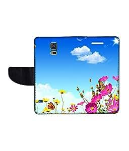 KolorEdge Printed Flip Cover For Samsung Galaxy S5 Multicolor - (50KeMLogo10635SamS5)