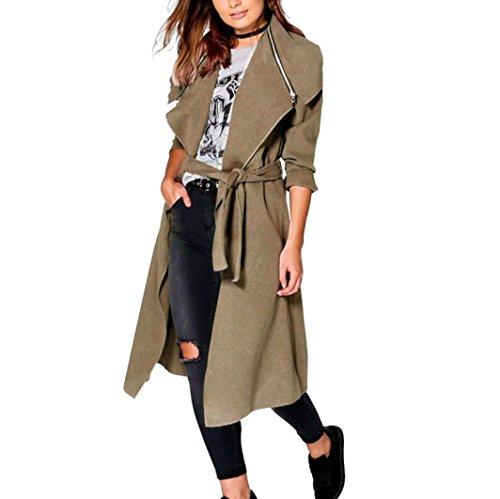 cappotto di inverno per le donne, FEITONG trench oversize caldo lungo cappotto outwear (XL, Kaki)