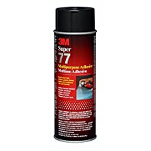 3M Super 77 Multipurpose Spray Adhesive, 24 fl oz Net Wt 16 3/4 oz (Pack of 1)