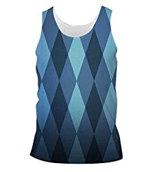 Snoogg English Mould Mens Casual Beach Fitness Vests Tank Tops Sleeveless T shirts