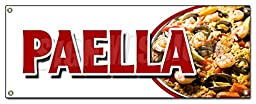 PAELLA BANNER SIGN spanish seafood clam shrimp mussel rice special food