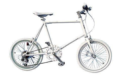 21Technology(CL20-3)ミニベロmini 20インチシマノ6段変速クロスバイク (ホワイト)