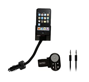 Griffin TuneFlex AUX Mount and Charger with SmartClick Remote for iPod and iPhone (Black)
