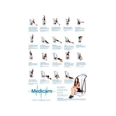 A1 large medicarn power vibration plate workout exercise poster