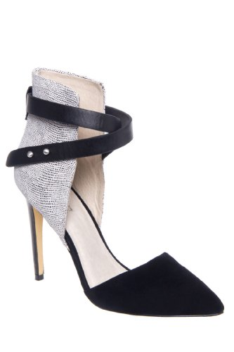 Joe's Jeans Laney High Heel Cuffed Pointed Toe Ankle Strap Shoe