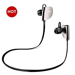 Joway H07 Bluetooth Earbuds , HD Stereo Beats Sound Quality Wireless Headphones (Bluetooth 4.1, Built-in Mic, CVC 6.0 Noics Cancelling, Sweatproof) (BLACK)