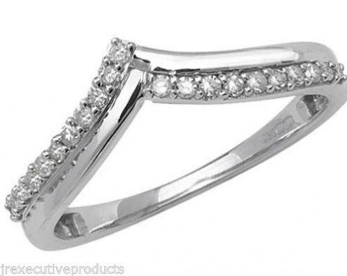 9ct White Gold Diamond Rounds Wishbone Eternity Ring 0.15ctw sizes G - W