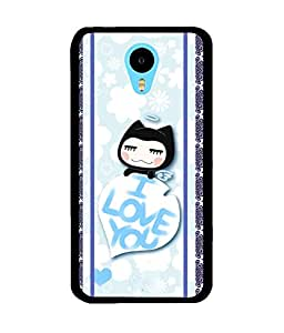 Fuson 2D Printed Love Designer back case cover for Meizu M2 Note - D4445