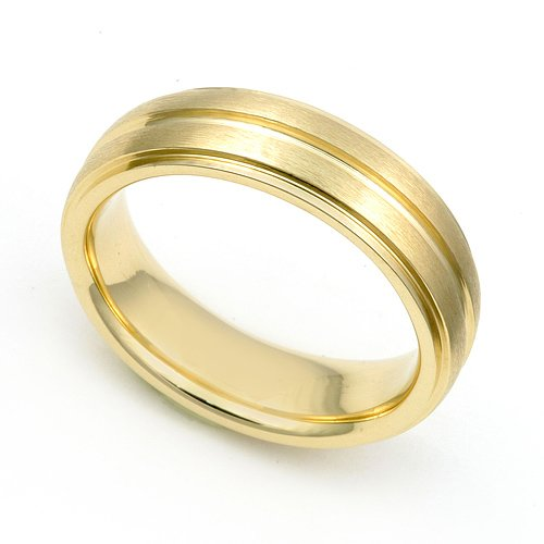 14k Yellow Gold 5.5mm Seamless Wedding Band Ring