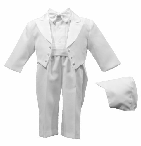#1 Lauren Madison baby boy  Christening Baptism Tuxedo with Matching Hat, White, 18 Months  Review