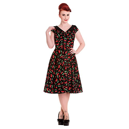 Abito Cherry Pop 50s Hell Bunny (Nero) - Small