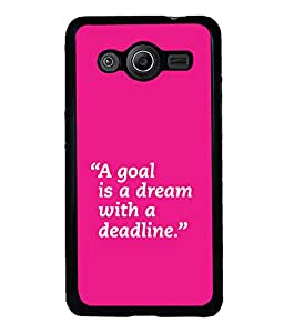 printtech Cool Quotes Back Case Cover for Samsung Galaxy Core Prime G360