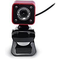 Vicbovo USB 12 Megapixel HD Camera Web Cam 360 MIC Clip-on For Computer Laptop PC Red
