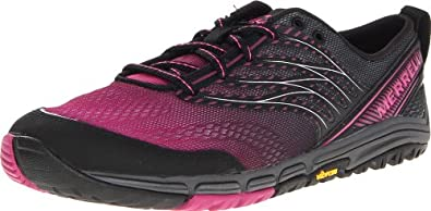 Merrell Women's Ascend Glove Trail-Running Shoe,Black,6 M US
