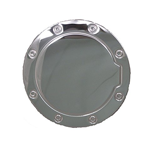 Tahoe Suburban Gas tank door fuel cover cap trim guard stainless steel chrome (2011 Gmc Yukon Chrome Gas Cover compare prices)