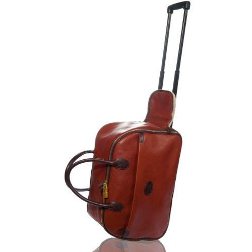 Terrida Italian Designer Cognac Leather Suitcase