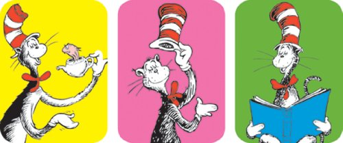 Eureka Cat in The Hat Stickers, 36 Per Pack