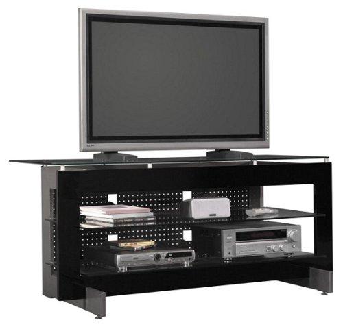 Cheap Bush Gray Metallic & Black Finish 60″ Plasma TV Stand Video Base (VS11960-03)