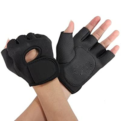 Gym Gloves Black L by Fitness Gloves
