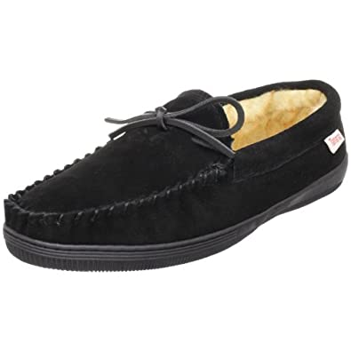 Tamarac by Slippers International 7161 Men's Camper Moccasin,Black,7 M US