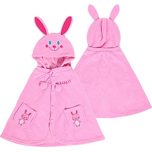 Adorable Rabbit Baby Clothes Cloak Baby Kids Warm Hood Cape Coat 66cm