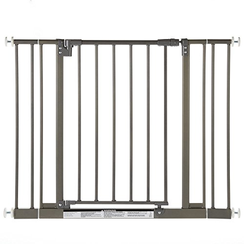 North States Industries Supergate Easy Close Metal Gate, Burnished Steel (Discontinued by Manufacturer) - 1