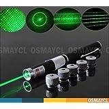 OSMAYCL - 5 en 1 Pointeur Laser Vert 532nm 1mW Pointeur Laser Vert (Top 1mw)
