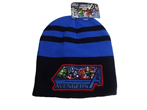 Marvel Avengers Hulk Iron Man Captain America Thor Boys Knit Winter Hat Blue