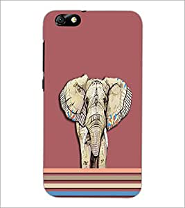 PrintDhaba Elephant D-3702 Back Case Cover for HUAWEI HONOR 4X (Multi-Coloured)