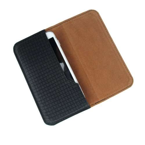 i-KitPit : PU Leather Flip Pouch Case Cover For Lava Xolo Q3000 (BLACK)
