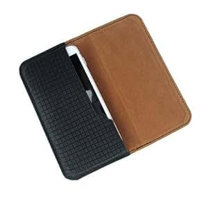 i-KitPit : PU Leather Flip Pouch Case Cover Fo BlackBerry Porsche Design P9982 (BLACK)