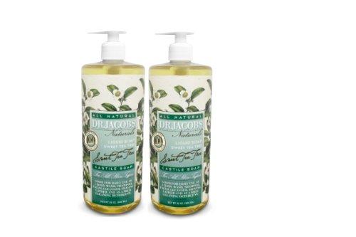 Dr. Jacobs Naturals Sweet Tea Tree Castile Soap 32Oz 2 Pack