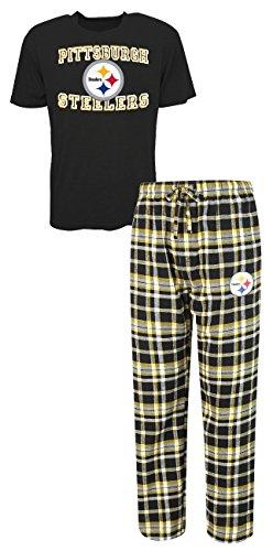 "Pittsburgh Steelers NFL ""Tiebreaker"" Men's T-shirt & Flannel Pajama Sleep Set"