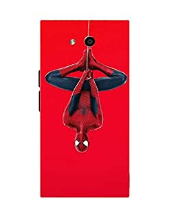 Make My Print Spider Man Printed Red Soft Silicon Back Cover For LYF Wind 4
