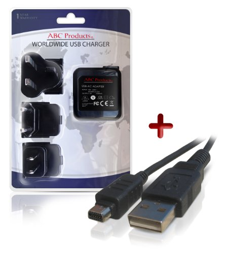 ABC-Products-Replacement-Olympus-Package-F-2AC-F-3AC-Worldwide-Mains-Adapter-Adaptor-Wall-USB-Battery-Charger-CB-USB5-CB-USB6-CB-USB8-USB-Cable-for-Select-Olympus-FE-SP-Series-Mju-Mju-Tough-Stylus-Tra