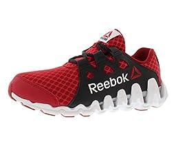 Reebok Zigtech Big and Fast Running Shoe (Little Kid/Big Kid),Excellent Red/White/Black/Silver Metallic,3.5 M US Big Kid