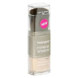 Neutrogena Mineral Sheers Mineral Powder Foundation, 30 Light to Neutral (View amazon detail page)